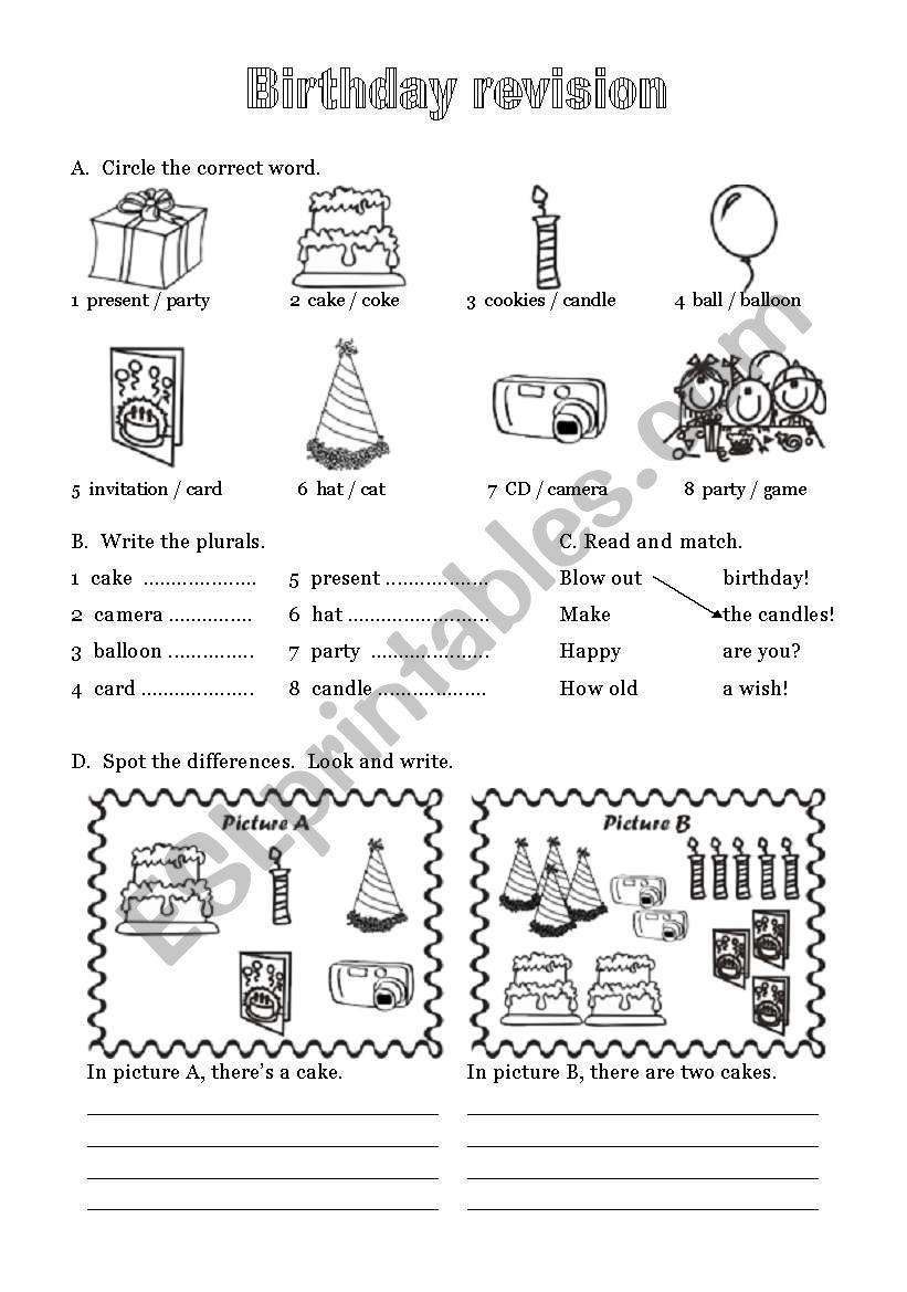 Happy Birthday - 6 of 6 worksheet