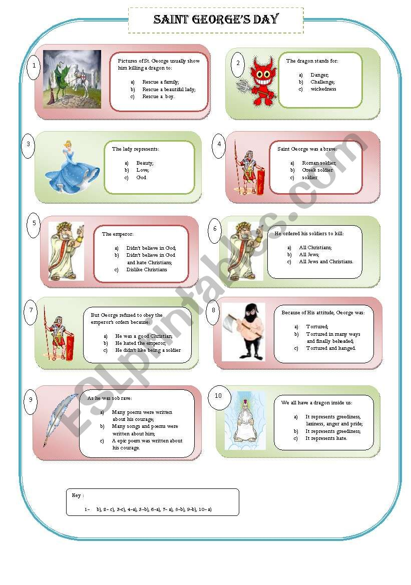 SAINT GEORGE´S DAY + STORY worksheet