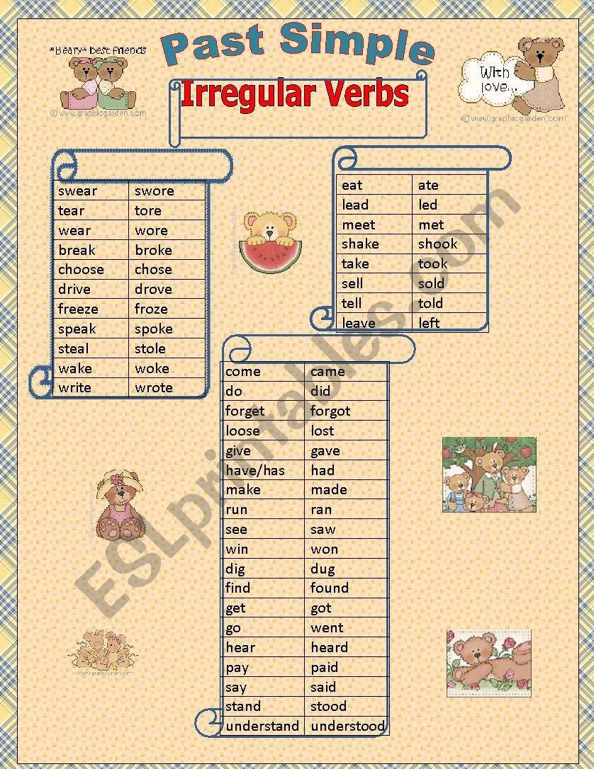 Past Simpe irregular verbs 2 out 2