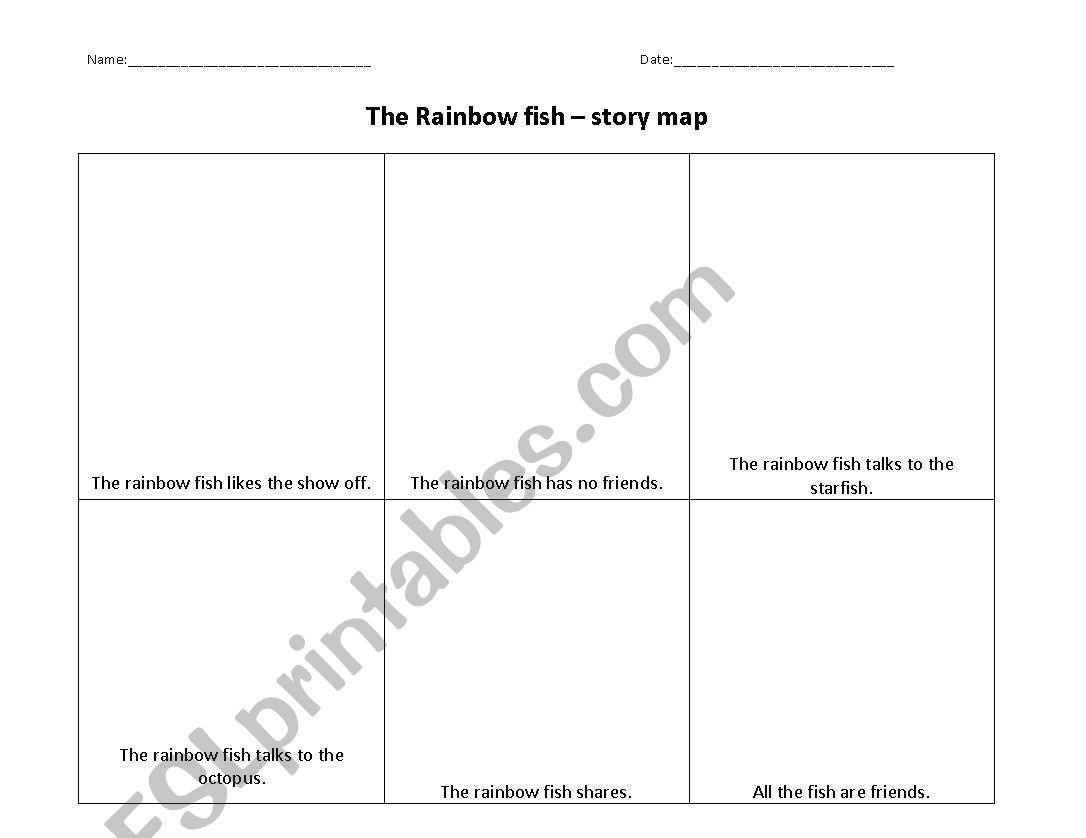 Worksheets Rainbow Fish Worksheets english worksheets rainbow fish story maps differentiated ha ma la