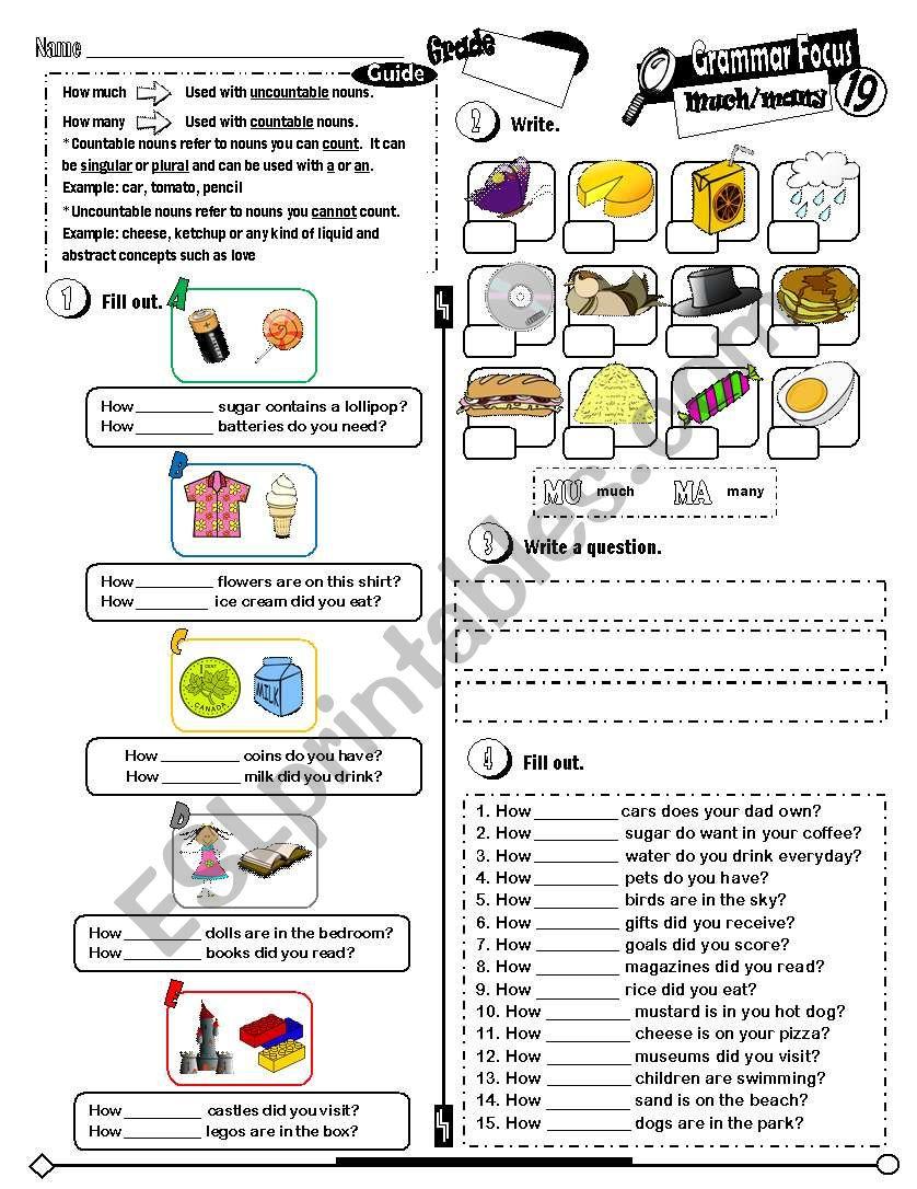 Grammar Focus Series_19 Much & Many (Fully Editable + Key)