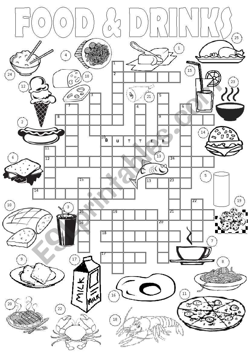 Food & Drinks Crossword worksheet
