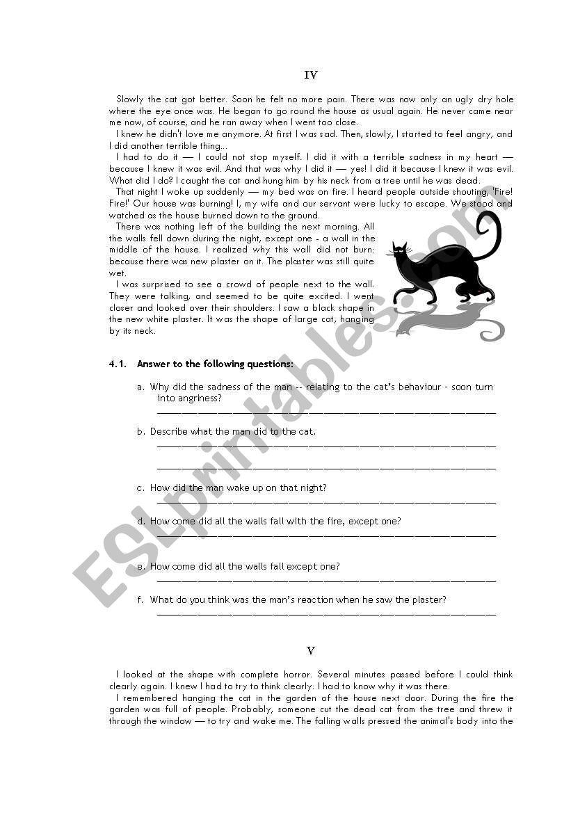 Edgar Allan Poe «The Black Cat» 3