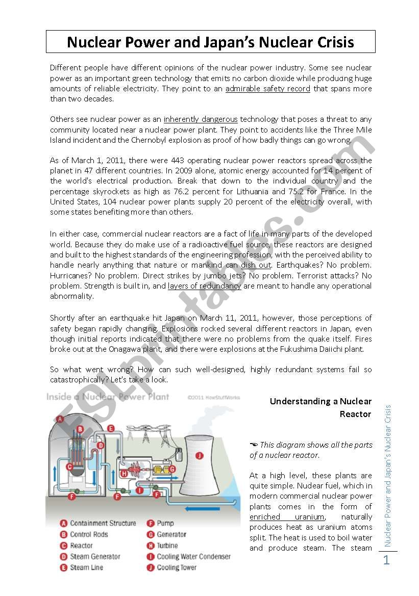 Power Plant Diagram Worksheet Wiring Library Of A Nuclear For Generating Electricity And Japans Crisis
