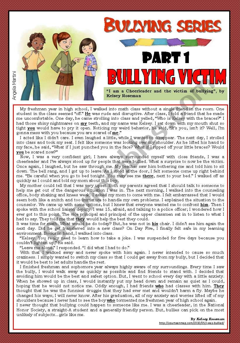 Bullying series - Part 1 - Bullying victim