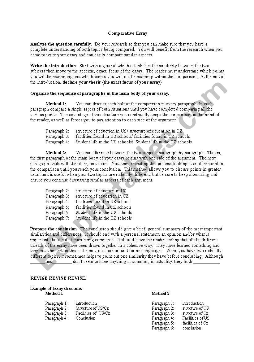 In An Essay What Is A Thesis Statement  English Essay Outline Format also Advanced English Essay English Worksheets Comparative Essay Healthy Eating Essays