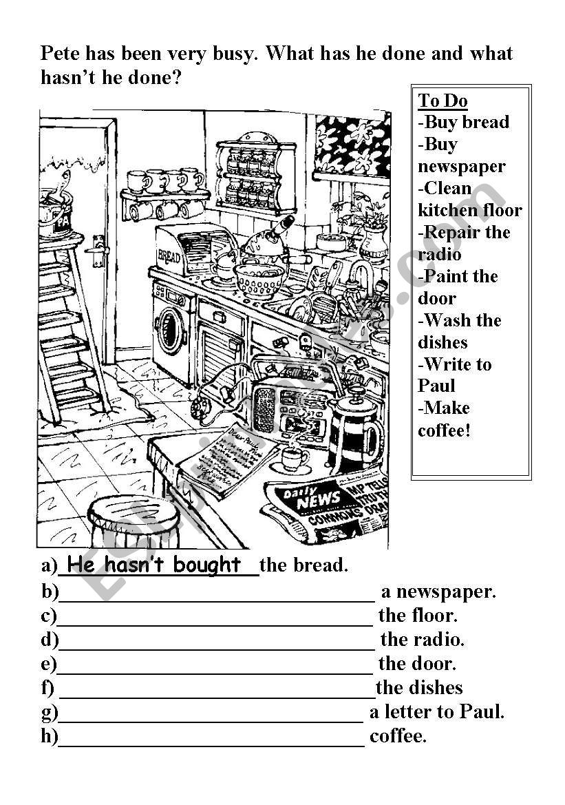 Present Perfect worksheet
