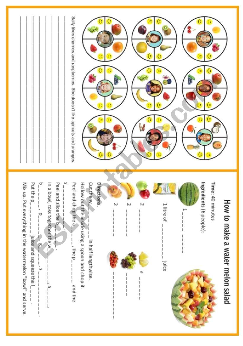 FRUIT - 3/3 worksheet