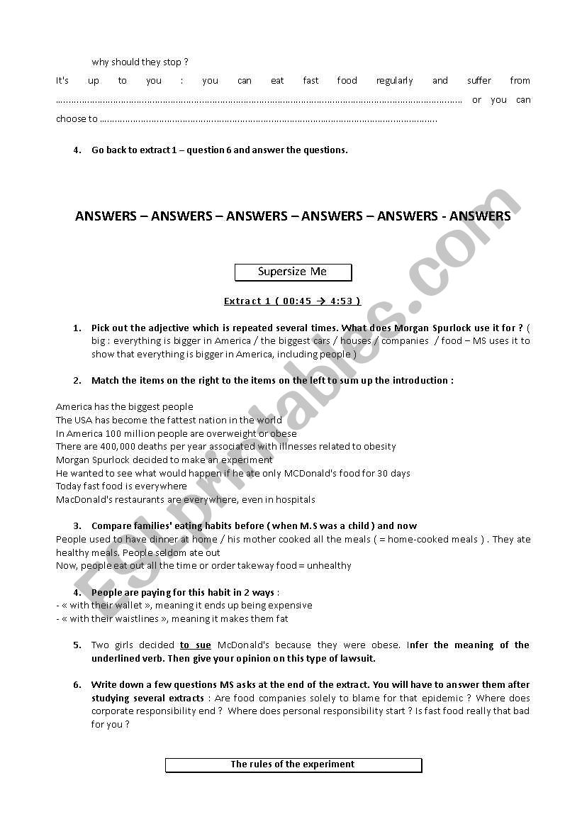 supersize me worksheet answers – cecll org moreover super size me answers   Juve clique27 as well ysis of Supersize Me besides Supersize Me Video Guide   ESL worksheet by khiler besides essay on food inc   Ukran agdiffusion as well Supersize Me Worksheet Answers on Super Size Me Homework Doc further Supersize Me Worksheet   ESL worksheet by Desperate Housewife as well Supersize Me   ESL worksheet by vanessa78 besides super size me answers   Juve clique27 furthermore Supersize Me Movie Discussion Questions by Rachel Franks   TpT as well Supersize Me  Worksheet To Film Worksheet Free ESL Printable further super size me video worksheet answers pdf   Worksheet site besides Supersize Me Worksheet Answer Key Awesome Super Size Me Ganzer Film additionally SUPERSIZE ME VIDEO QUESTIONS   Explore Biology moreover  likewise Movie worksheet  Super Size Me. on super size me worksheet answers