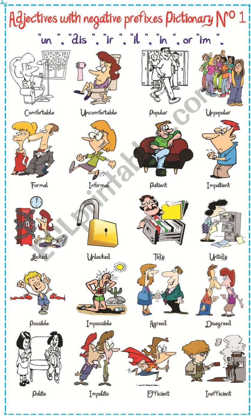 Adjectives with negatives prefixes Nº 1