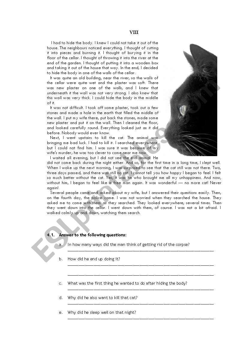 Edgar Allan Poe «The Black Cat» 4