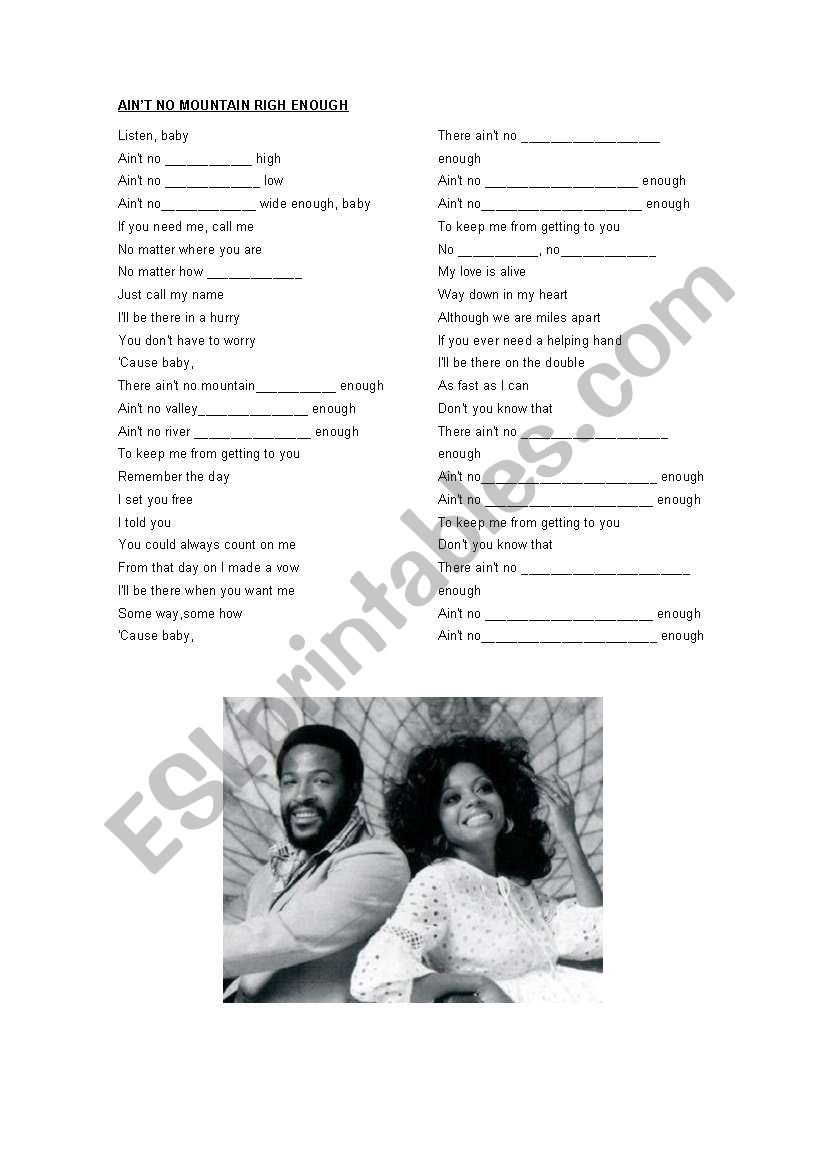 Song with enough esl marvin gaye