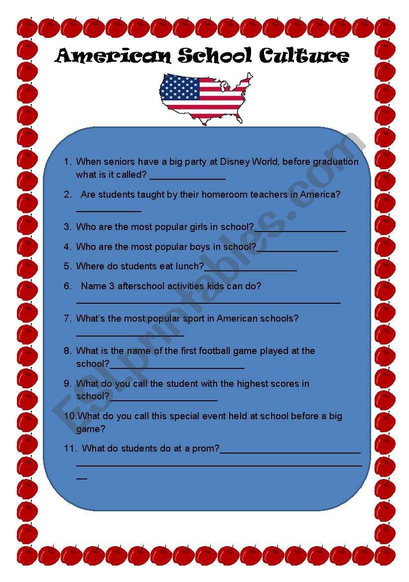 American classroom culture quiz