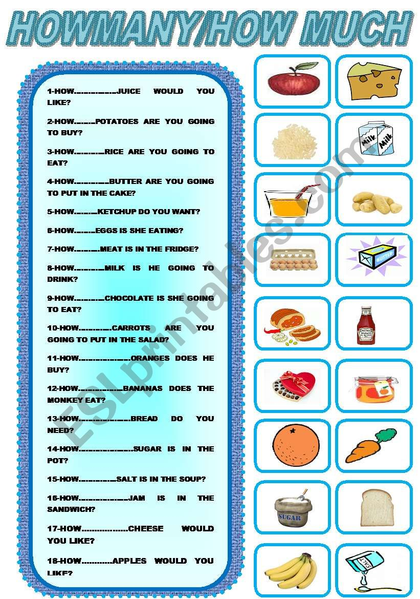 542526_1-HOW_MANY_HOW_MUCH_ English Worksheets Much Many on was were worksheets, preschool phonological awareness worksheets, wedding guest list worksheets, some any worksheets, preschool community helpers worksheets, double negatives worksheets, can and may worksheets, have has worksheets, skip counting worksheets, i and me worksheets,