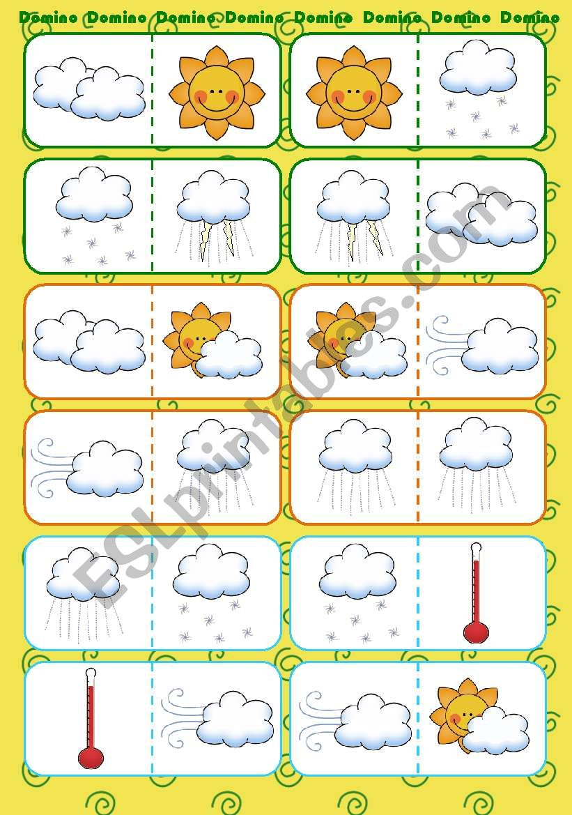 Weather Domino worksheet