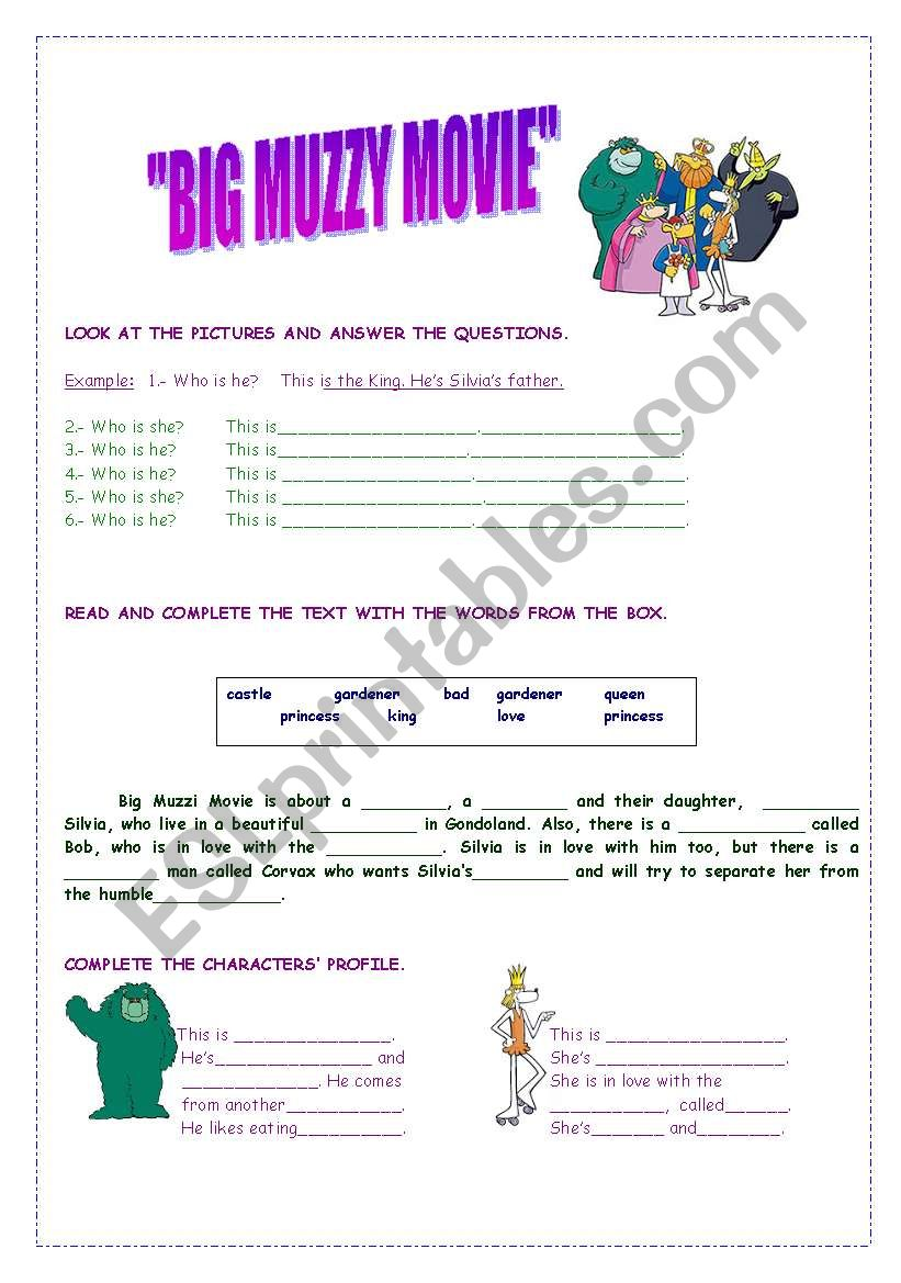 MOVIE BIG MUZZY PART I worksheet