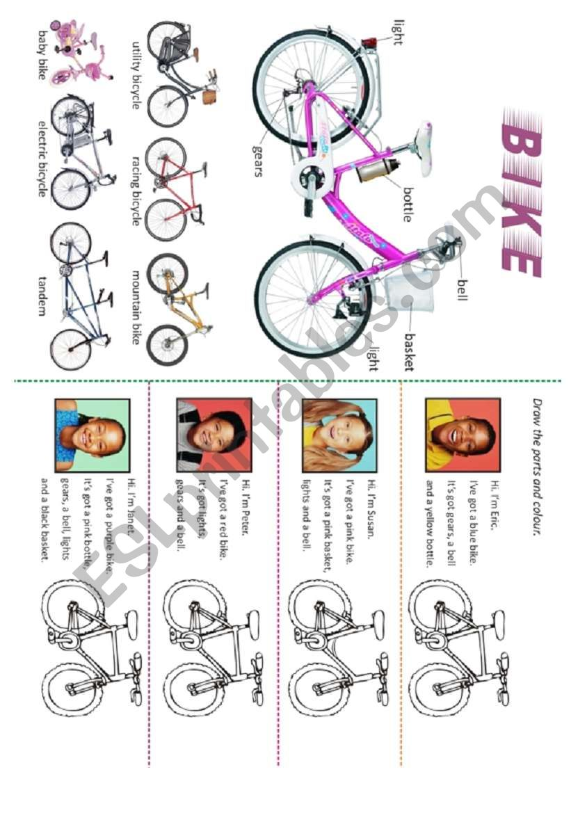 MY BIKE worksheet