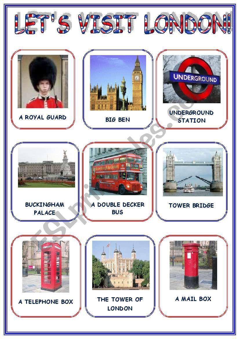 LET´S VISIT  LONDON! (3 pages)