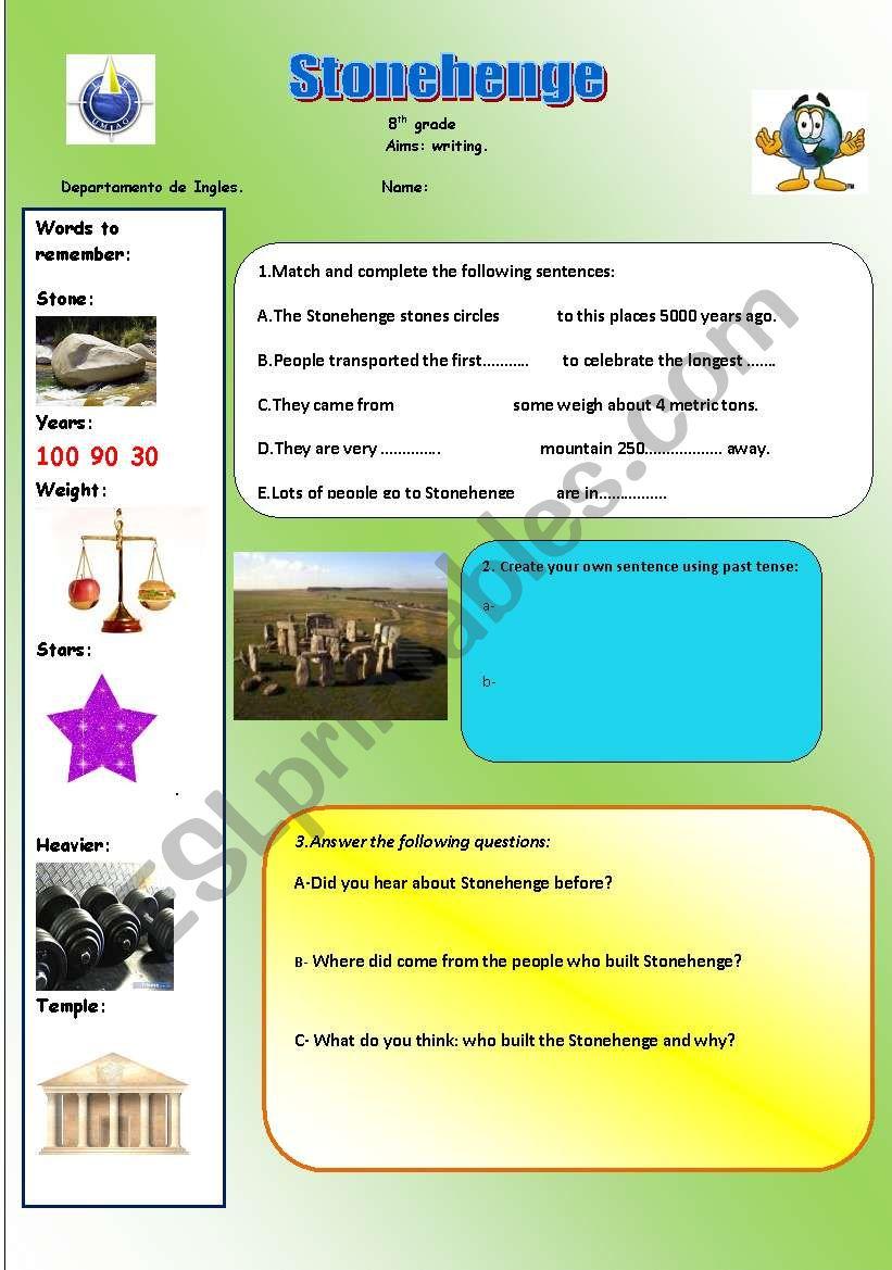 stonehenge handout worksheet