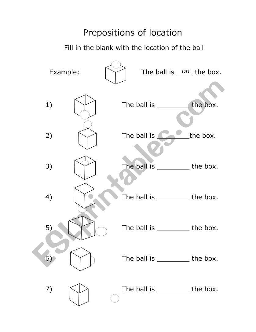 prepositions of location esl worksheet by kallbrier. Black Bedroom Furniture Sets. Home Design Ideas