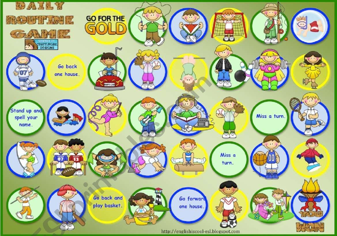 Sports Board Game worksheet