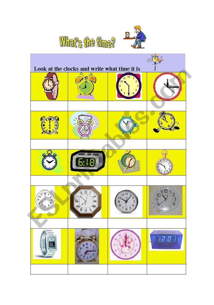 Time +  Simple Present worksheet