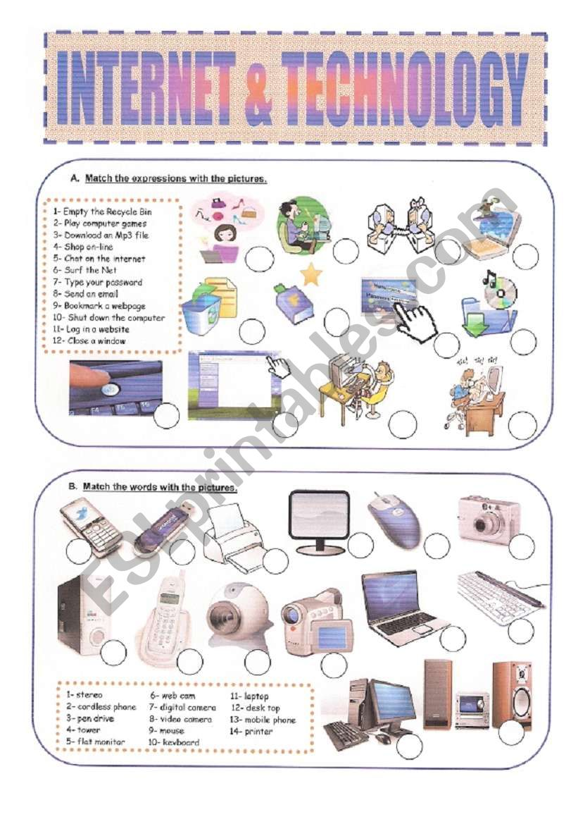 Internet & Technology worksheet