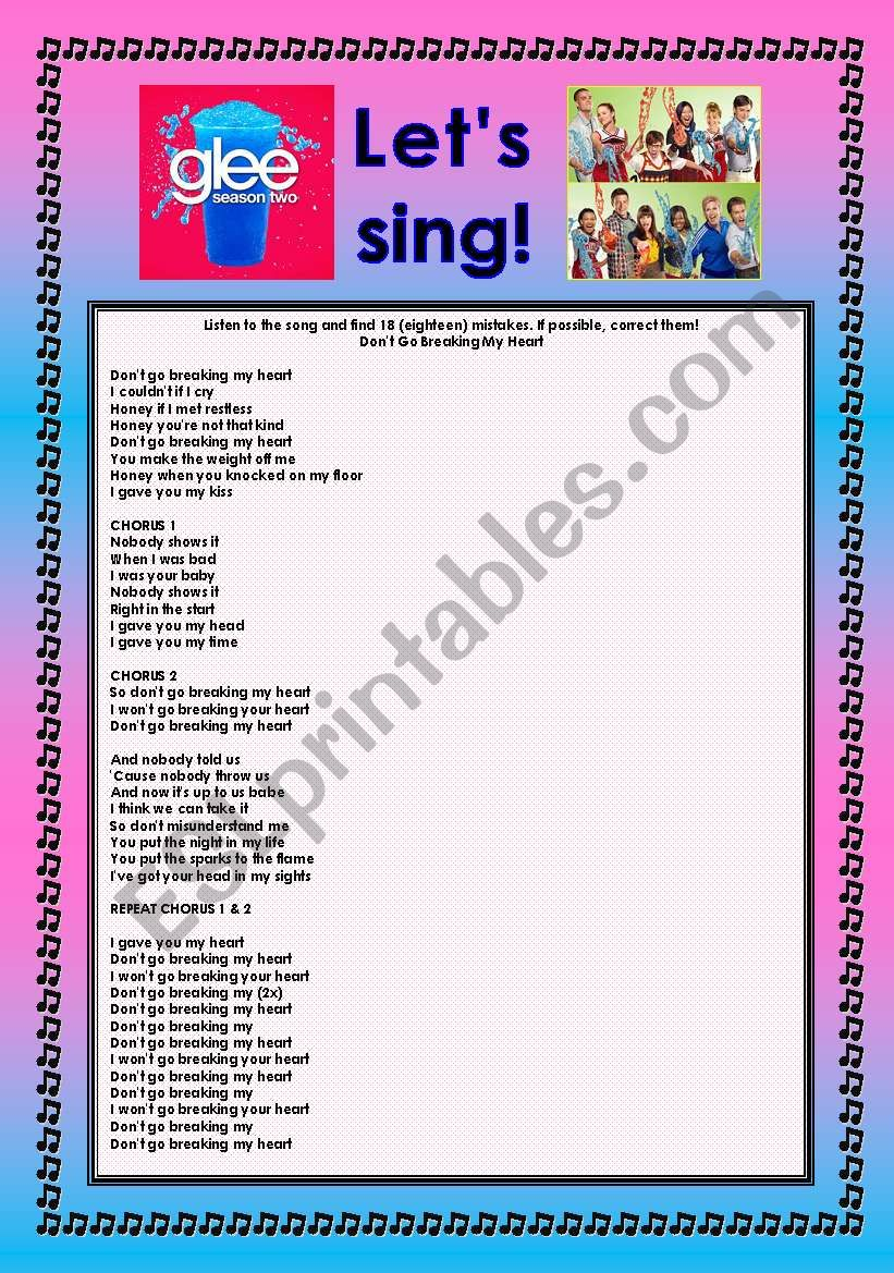 > Glee Series: Season 2! > SONGS FOR CLASS! S02E04 *.* THREE SONGS *.* FULLY EDITABLE WITH KEY! *.* PART 1/2