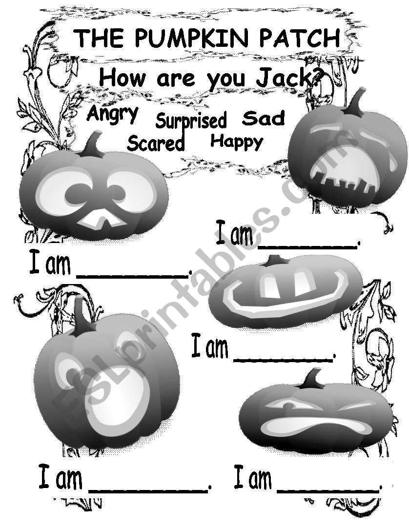 The Pumpkin Patch - 5 Little Jack O´Lanterns Worksheet