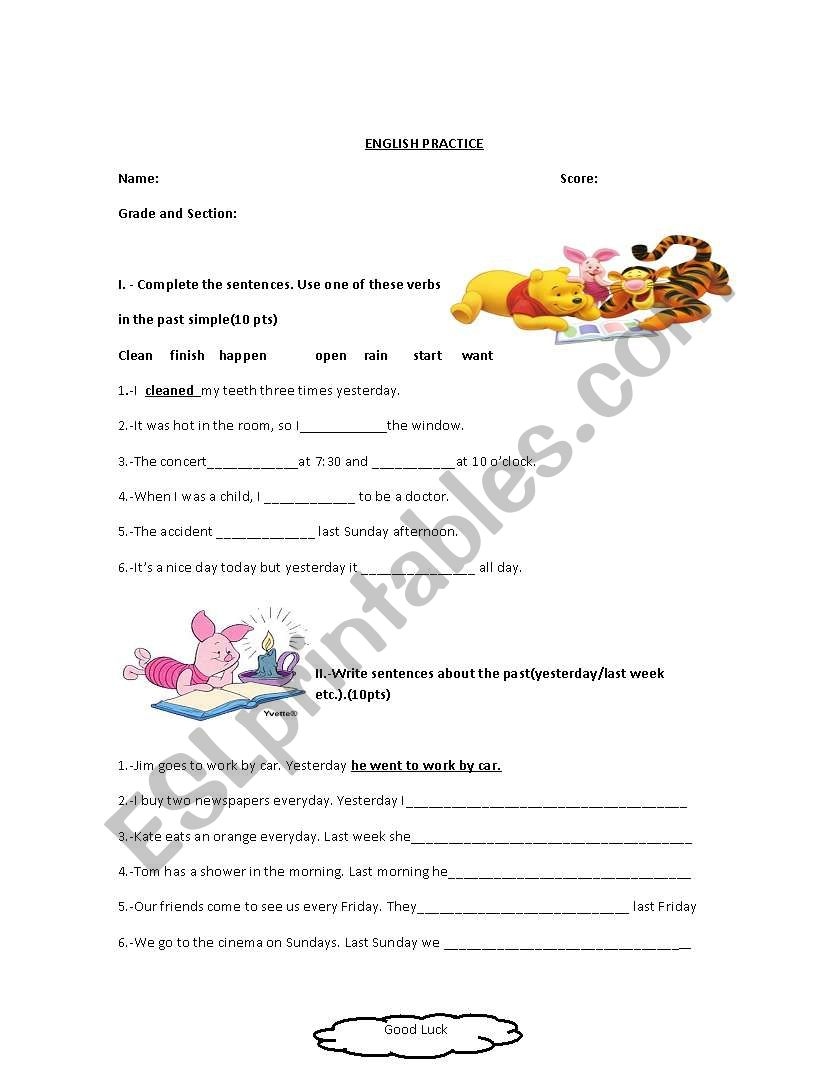 past simple regular and irregular verbs worksheets pdf