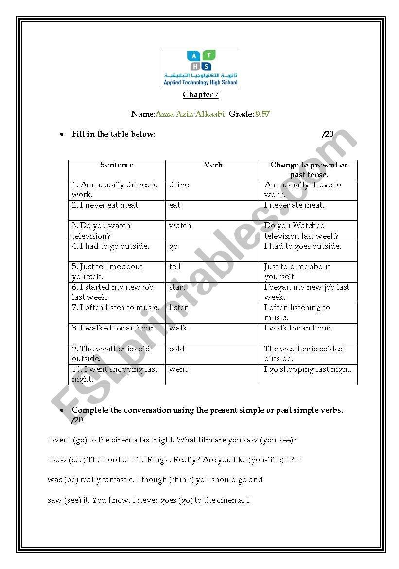 UNIT REVIEW worksheet