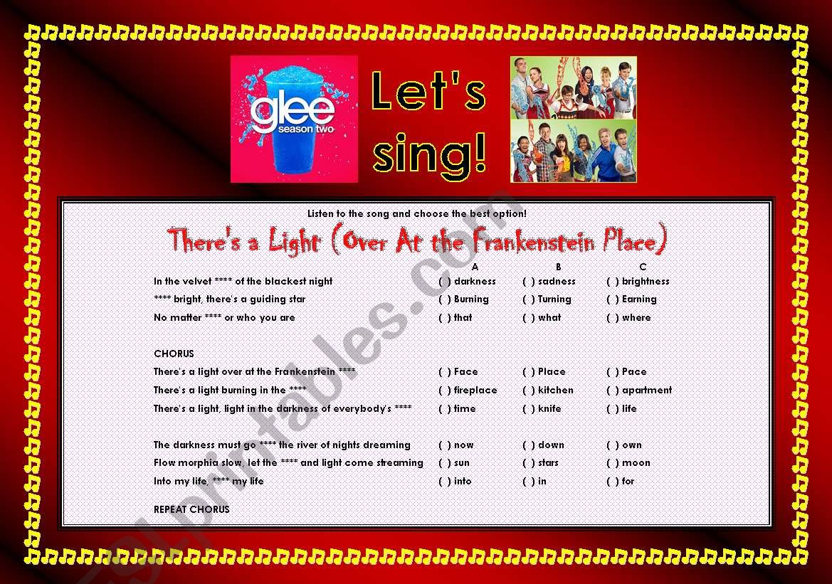 > Glee Series: Season 2! > SONGS FOR CLASS! S02E05 *.* THREE SONGS *.* FULLY EDITABLE WITH KEY! *.* PART 1/2