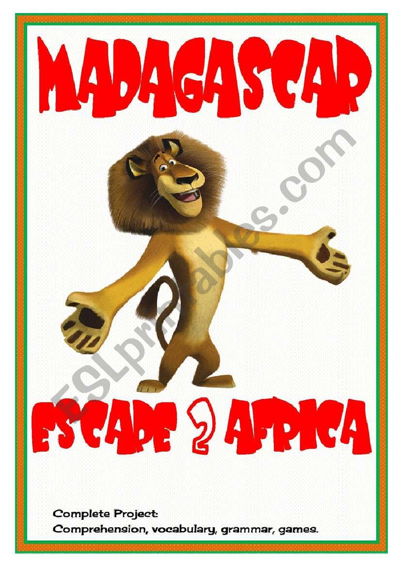Movies4Class: Madagascar – Escape 2 Africa • comprehension • vocabulary • grammar • crosswords • 6 pages • editable