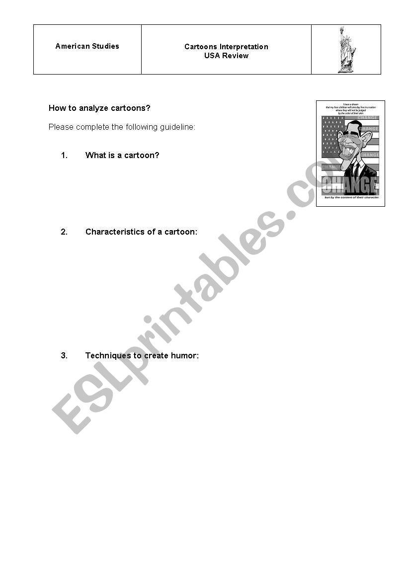 Worksheet Cartoons Analysis worksheet
