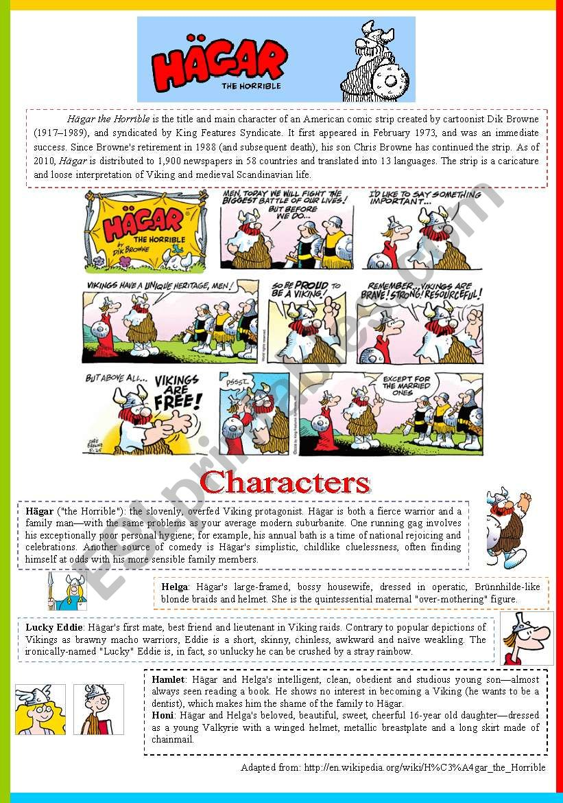 Hagar - The Horrible worksheet