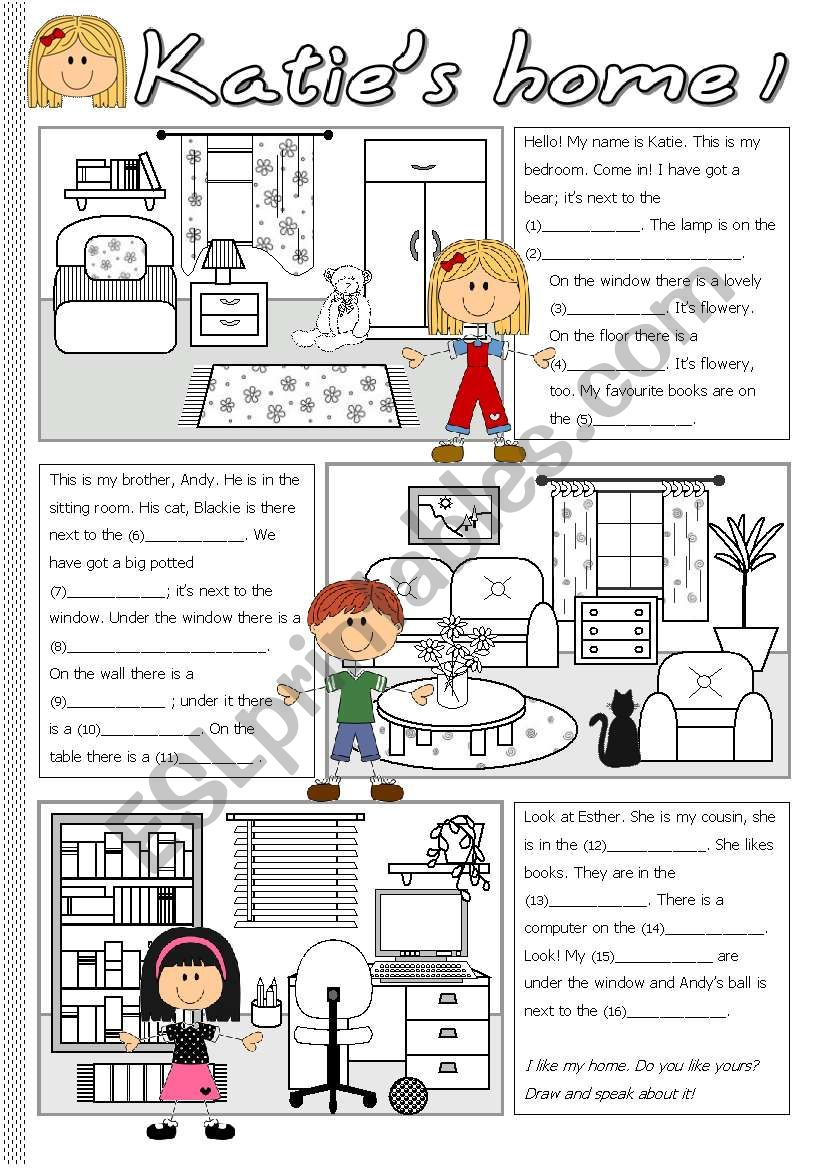 Katie´s home 1 worksheet