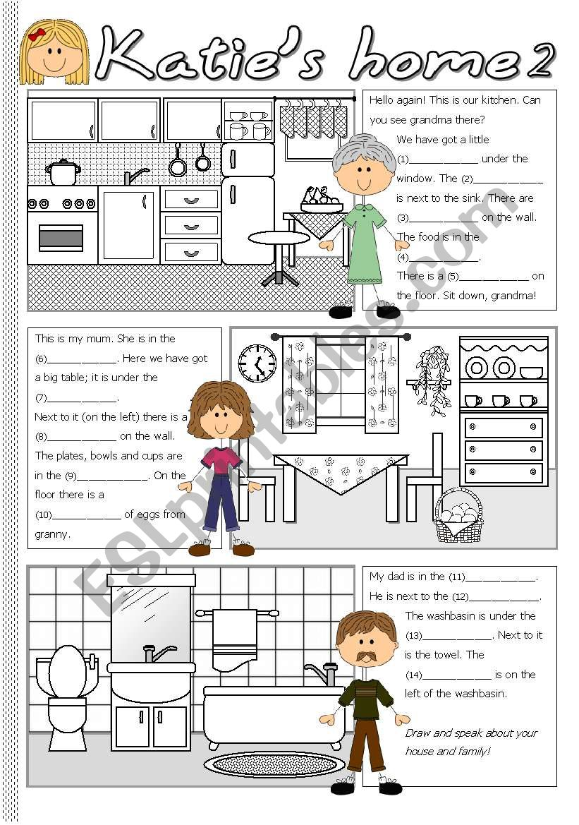 Katie´s home 2 worksheet