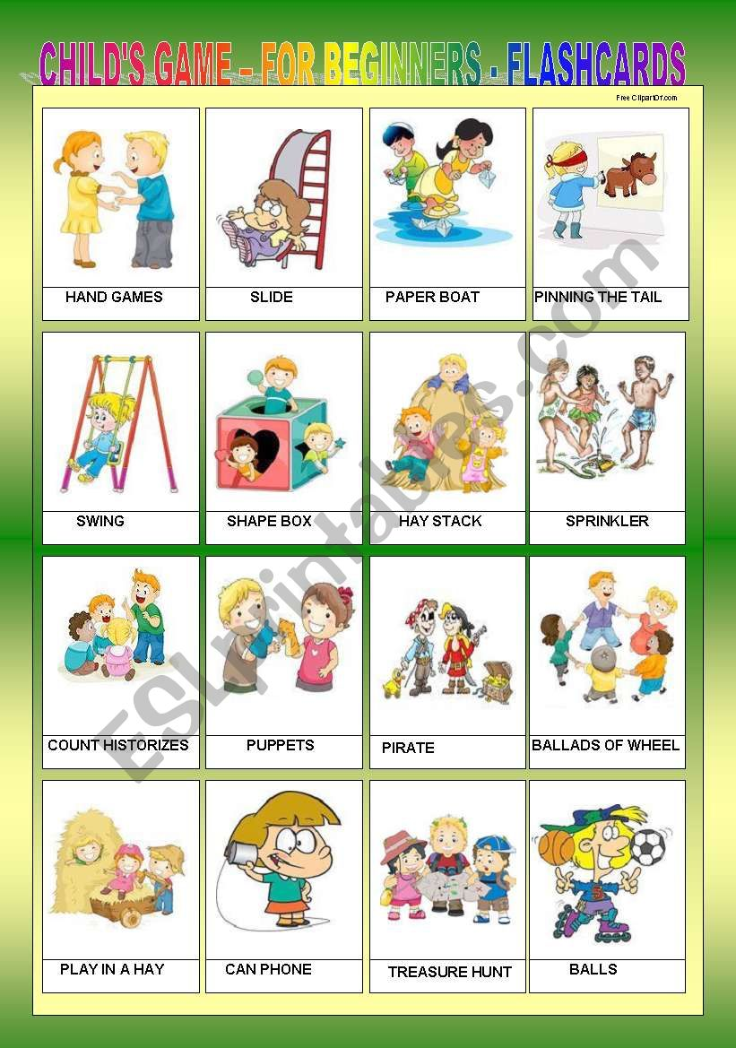 CHILD´S GAME FOR BEGINNERS - FLASHCARDS III