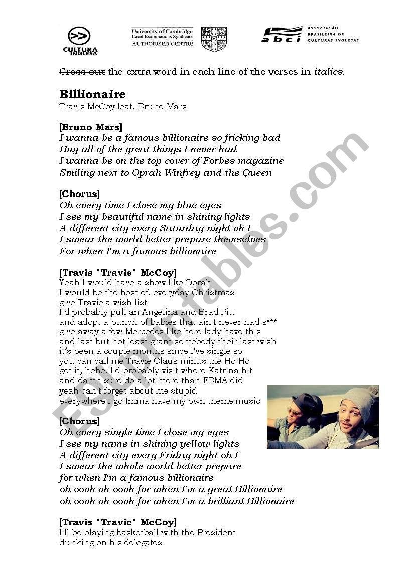Billionaire - Travie McCoy ft. Bruno Mars
