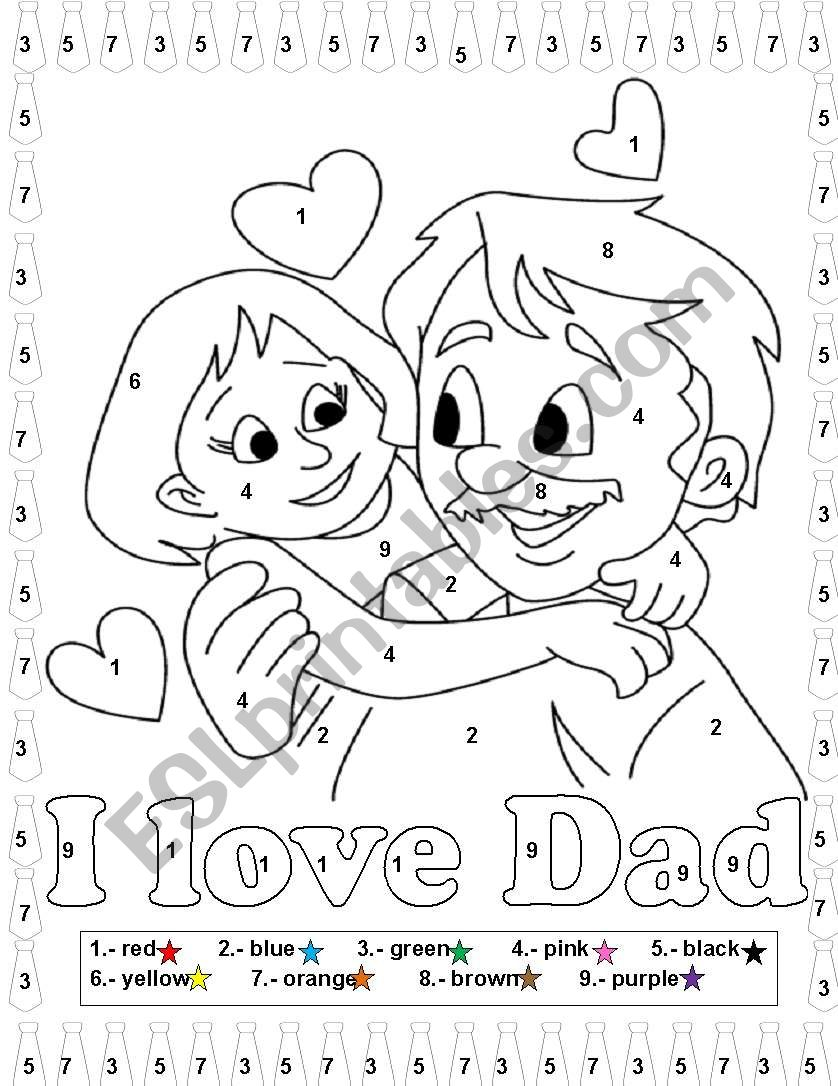 Fathers day worksheet