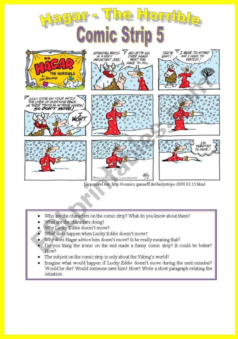 Hagar - Comic Strip 5 worksheet