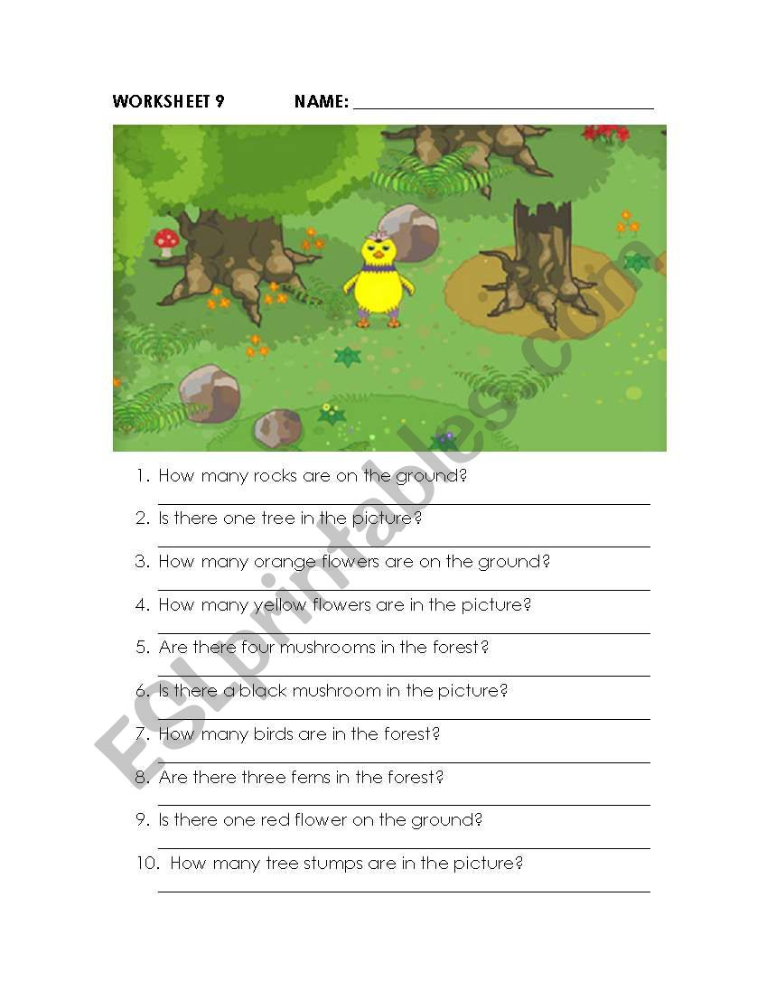 What´s In The Forest? worksheet