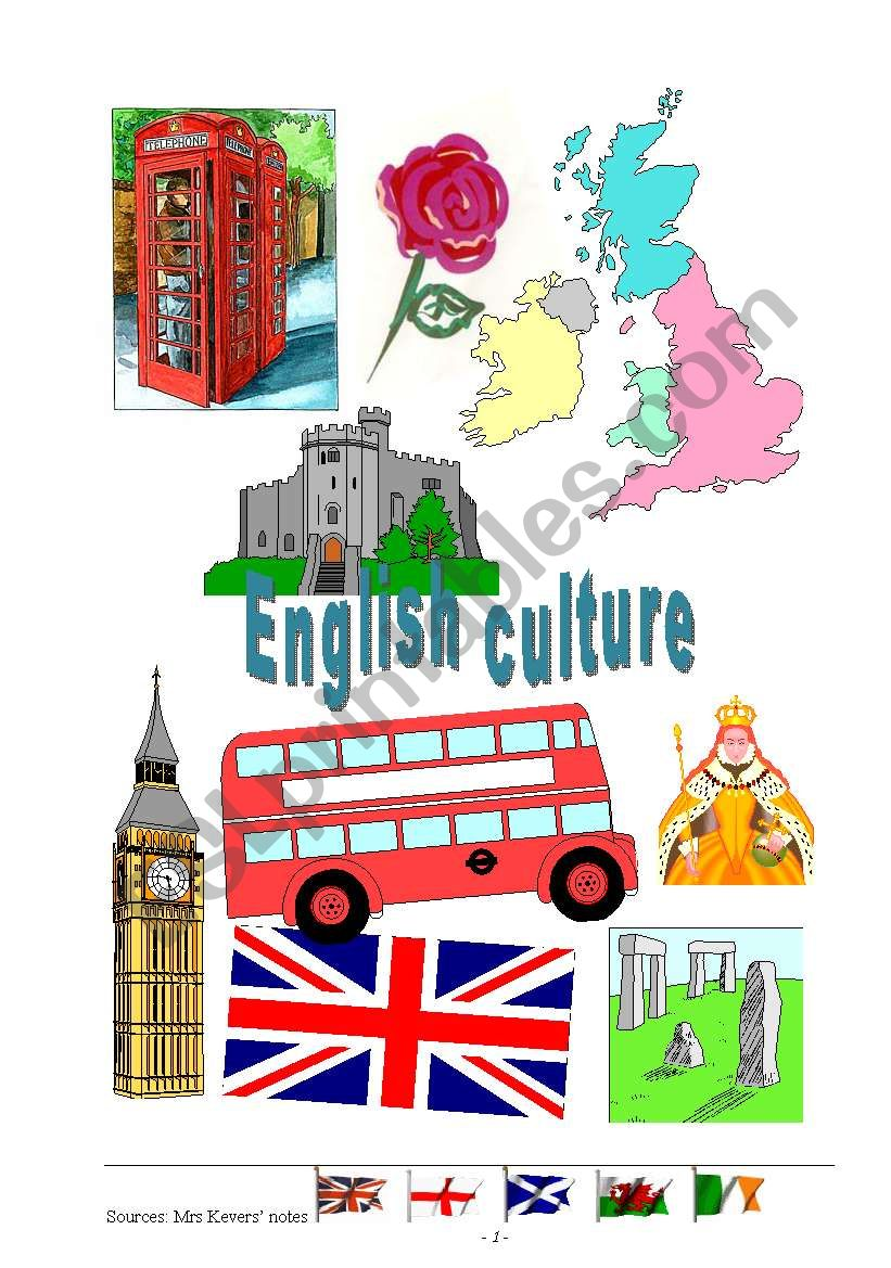 English culture worksheet