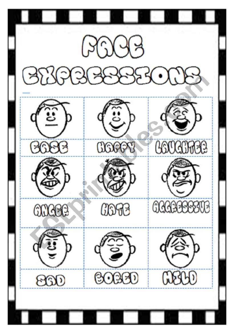 Face Expresstion poster  worksheet