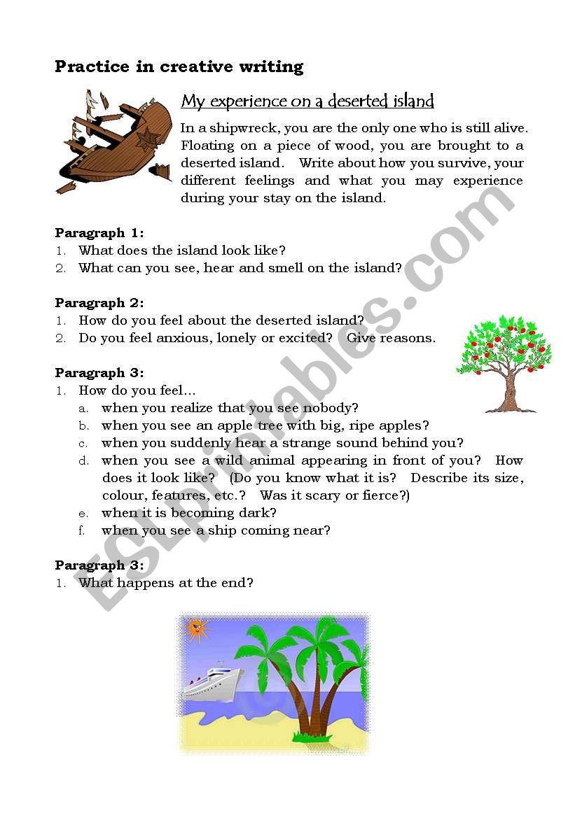 creative writing desert island