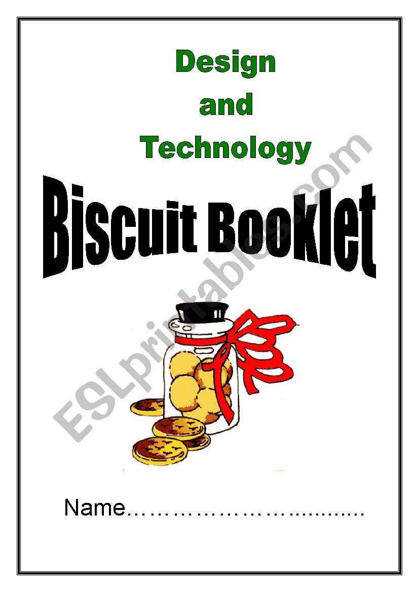 Biscuit Booklet worksheet