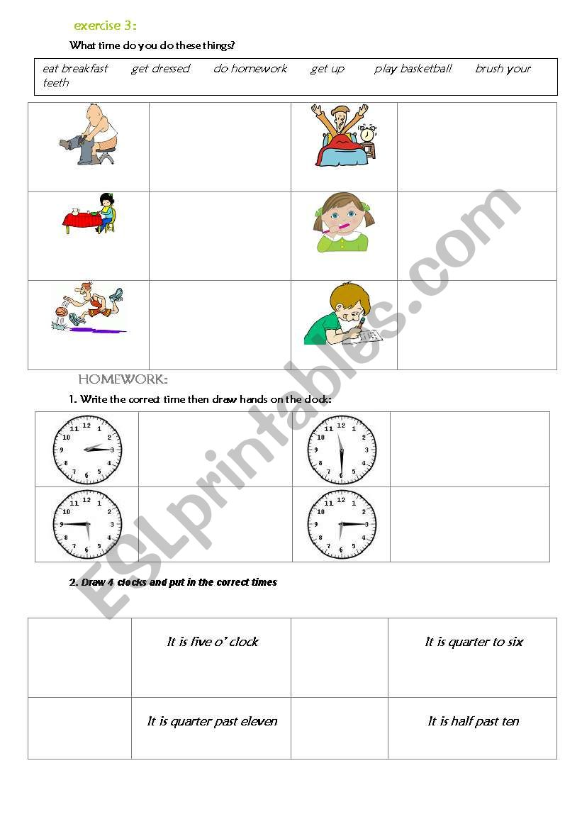 telling the time english worksheets pdf