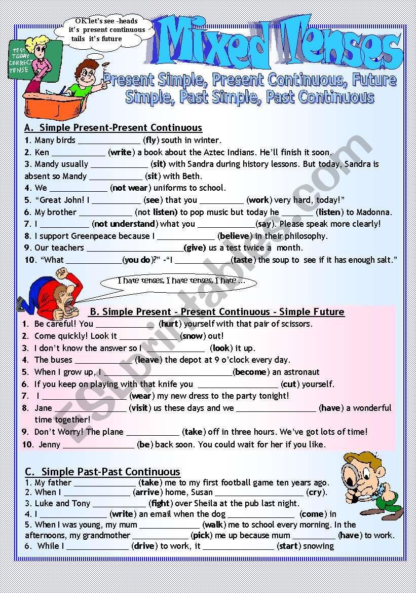 TENSE REVISION worksheet