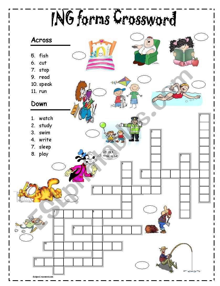 ING forms Crossword worksheet