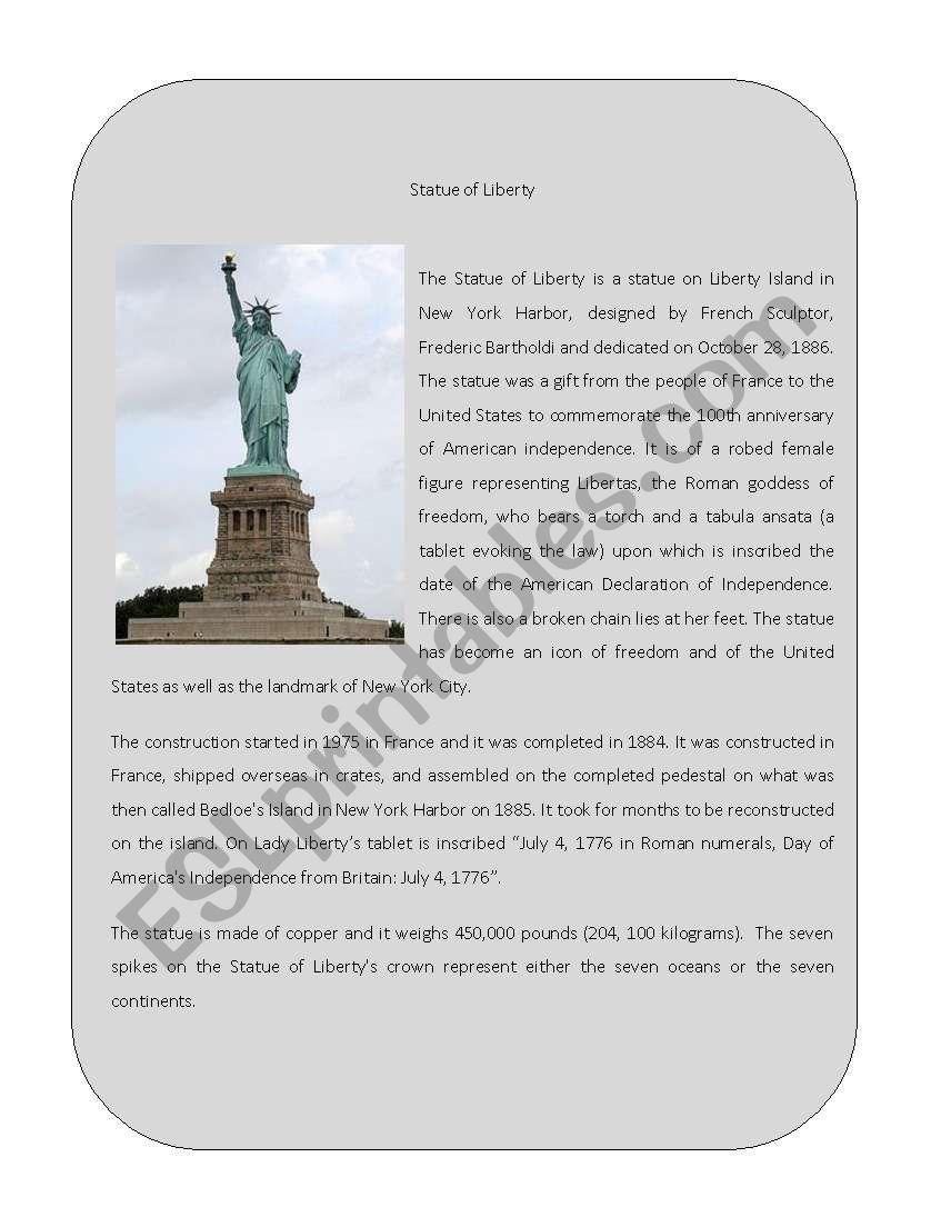 Wonder of the World 9 ( Statue of Liberty)
